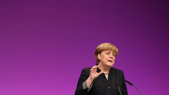 Merkel sprach auf der Jahrestagung des Beamtenbundes dbb.