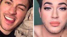 Wie sich die Zeiten ändern: Junger Mann wirbt für Mascara