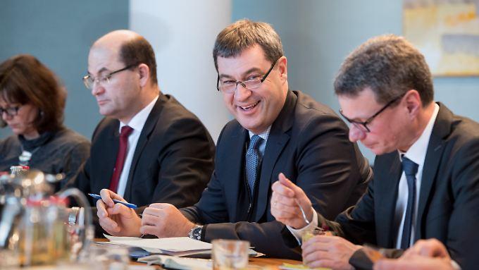Zuständig für die bayerischen Finanzen: Markus Söder, hier bei einer Kabinettssitzung in München.