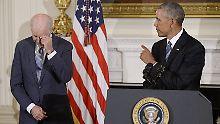 Emotionale Momente in Washington: Obama rührt Joe Biden zu Tränen