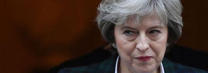 """""""Lieber kein Deal mit der EU als ein schlechter Deal"""", sagt Großbritanniens Premierministerin Theresa May."""