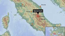 Erdstöße bis Rom zu spüren: Erneute Beben erschüttern Mittelitalien