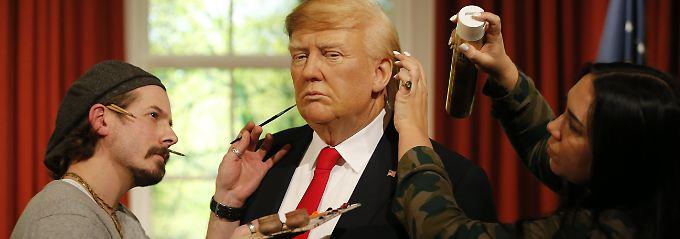 Touristenmagnet bei Madame Tussauds: Wachs-Trump wird schick gemacht