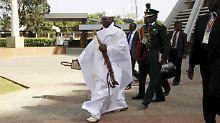 Geht nun offenbar doch friedlich: Yahya Jammeh