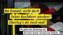 """""""Du hast immer Grund zum Pöbeln"""": BVG bietet Donald Trump Job an"""
