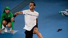 Rafael Nadal steht in Melbourne erstmals seit einer kleinen Ewigkeit wieder im Viertelfinale eines Grand-Slam-Turniers.