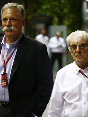 Neulich in Singapur: Chase Carey und Bernie Ecclestone.