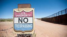 Bereits jetzt sind die USA über mehr als 1000 Kilometer lange Sperranlagen von Mexiko getrennt.