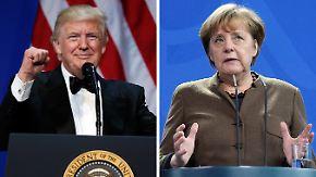Nach Treffen mit May: Trump will heute mit Merkel, Putin und Hollande telefonieren