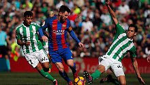 Lionel Messi kam mit dem FC Barcelona bei Betis Sevilla nicht über ein Unentschieden hinaus.