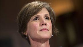 Nach Kritik an Einreiseverbot: Trump entlässt Justizministerin Yates