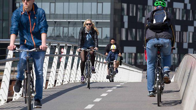 Radfahrer haben es in Kopenhagen ziemlich gut.