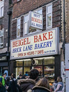 """Bei """"Beigel Bake"""" auf der Brick Lane gibt es köstliche koschere Bagels."""