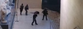 Angriff auf Soldaten am Louvre in Paris (170203) -- PARIS, Feb. 3, 2017 () -- Photo taken by a tourist with a mobile phone shows a soldier opening fire at a man in the Louvre Museum, Paris, France, on Feb. 3, 2017. A French soldier on duty opened fire on Friday at a man who tried to attack him with a knife at the entry of the Louvre Museum, according to local press and witnesses. () (zy) FRANCE-PARIS-LOUVRE-SHOOTING Xinhua PUBLICATIONxNOTxINxCHN Attack on Soldiers at Louvre in Paris Paris Feb 3 2017 Photo Taken by a Tourist With a Mobile Phone Shows a Soldier Opening Fire AT a Man in The Louvre Museum Paris France ON Feb 3 2017 a French Soldier ON Duty opened Fire ON Friday AT a Man Who tried to Attack HIM With a Knife AT The Entry of The Louvre Museum According to Local Press and Witnesses ZY France Paris Louvre Shooting XINHUA PUBLICATIONxNOTxINxCHN