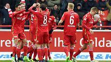 Gute Laune in der Alten Försterei: Der 1. FC Union hat ein Tor geschossen.