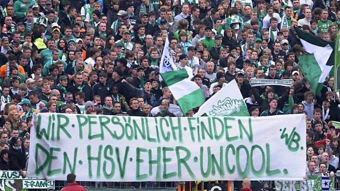 Friedlicher Spott: Werder Bremen stänkert gegen den Liebslingsrivalen HSV.