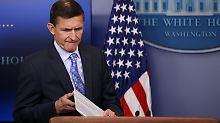 Druck zu groß: Trumps Sicherheitsberater Flynn tritt zurück