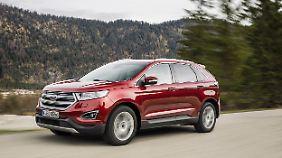 Bei Ford sorgt auch das SUV Edge für einen Anstieg der CO2-Bilanz.