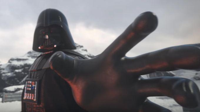 Bei Star Wars: Force Arena kann man in die Rolle von Darth Vader schlüpfen.