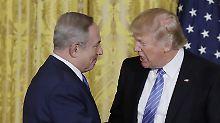Trump und Netanjahu bei ihrem ersten Treffen seit der Amtseinführung des neuen US-Präsidenten.