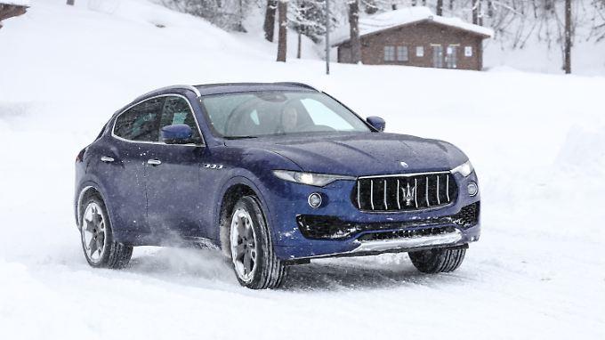 Ein Maserati im Schnee? Vor Jahr und Tag ein unvorstellbares Bild. Mit dem Levante kein Problem.