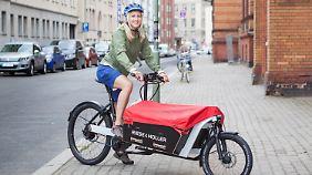 Immer beliebter werden Transportfahrräder bei den Bewohnern großer Metropolen.