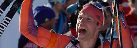 Vom Bisonfarmer zum Weltmeister: Nobody schafft ultimative Biathlon-Sensation