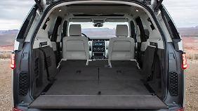 2500 Liter Kofferraum im Land Rover Discovery sollten für alle Transportbelange ausreichen.