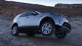 Die Geländekompetenz ist auch beim neuen Land Rover Discovery eine Kernkompetenz.