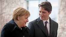 Trudeau trifft Merkel: Auf einmal sind Phrasen nicht mehr hohl