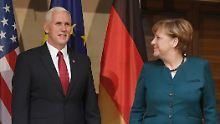 Die USA beruhigen ihre Partner: Pence ist Trumps Mr. Charming