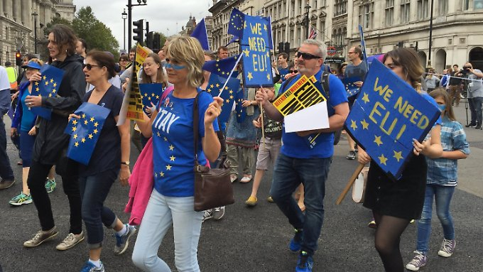 Ihr Protest verhallt: Britische EU-Befürworter im Herbst 2016 in London.