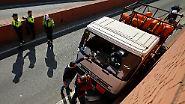 Gasflaschen geladen: Polizei stoppt Lkw-Geisterfahrer in Barcelona mit Schüssen