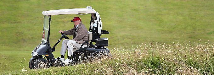 """""""Schöne Arbeitsmoral"""": Warum Trump lieber heimlich Golf spielt"""
