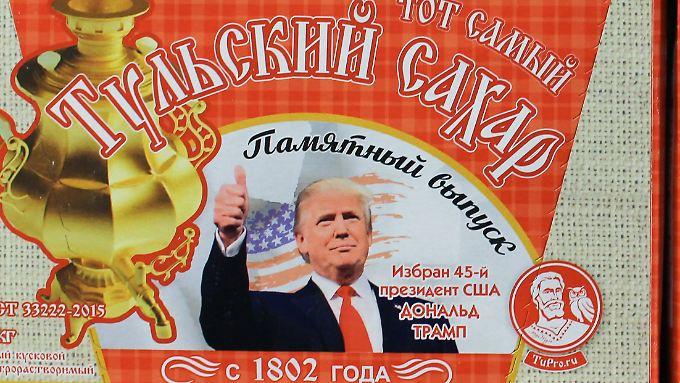 So süß: Russischer Zucker wirbt mit Trumps Konterfei.