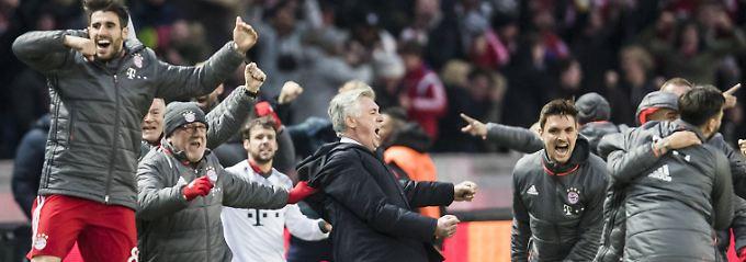 Neulich in Berlin: Carlo Ancelotti außer Rand und Band.