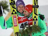 """Silber und Bronze """"der Hammer"""": DSV-Adler springen in siebten WM-Himmel"""