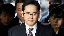Lee Jae Yong bei einer Anhörung vor Gericht im Januar.