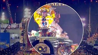 Weiterer Unfall beim Karneval in Rio: Teile eines großen Umzugwagens brechen auseinander