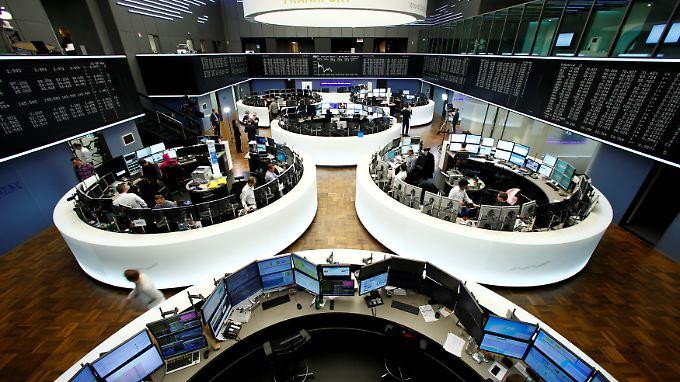 Auch an der Frankfurter Börse rechnet man damit, dass die Fed am Mittwoch den Leitzins anheben wird.