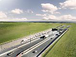 Diesen Ausblick könnten Autofahrer haben, die den Fehmarnbelt-Tunnel nach Dänemark nutzen - wenn er denn fertiggestellt ist.