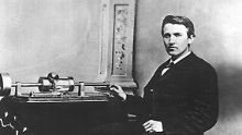 Thomas Alva Edison erfand auch den Phonographen.