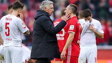 Die Chemie stimmt zwischen Carlo Ancelotti und seinem Spieler Franck Ribéry.