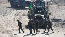 Die Streitkräfte der USA und Südkoreas proben großangelegte Manöver auf der koreanischen Halbinsel und ...