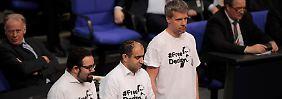 Türkei-Protest im T-Shirt: Lammert weist Grünen-Abgeordnete zurecht