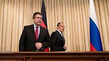 """""""Von Nato-Einheiten umzingelt"""": Lawrow gerät mit Gabriel aneinander"""