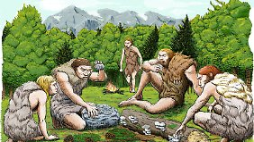 So könnte es ausgesehen haben, wenn Neandertaler ihre Mahlzeit einnahmen.