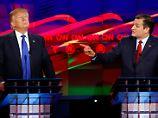 Schon beim Vorwahlkampf der Republikaner gerieten Donald Trump und Ted Cruz aneinander. Nun begegnen sie sich wieder.