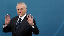 """Temer spürt """"seltsame Dinge"""": Geister verjagen brasilianischen Präsidenten"""