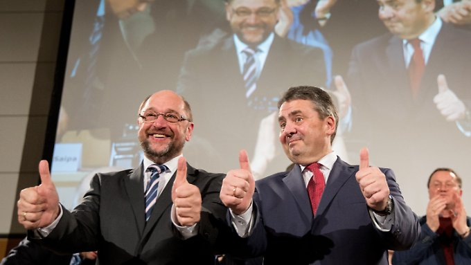 Daumen hoch bei der SPD.